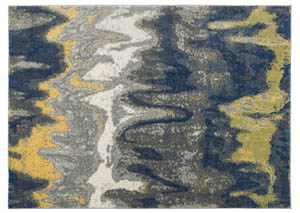 Alanson Blue/Gray/Yellow Large Rug