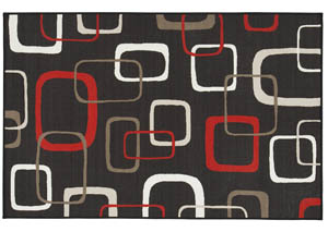 Johan Black/Red Medium Rug