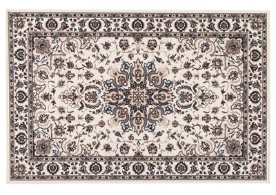 Monia Ivory/Navy Medium Rug