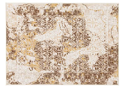 Jariath Ivory/Brown Medium Rug