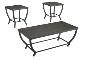 Champori Grayish Brown Occasional Table Set