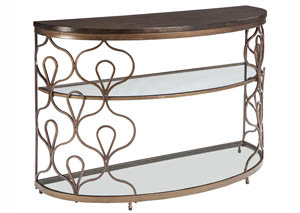 Fraloni Bronze Finish Sofa Table