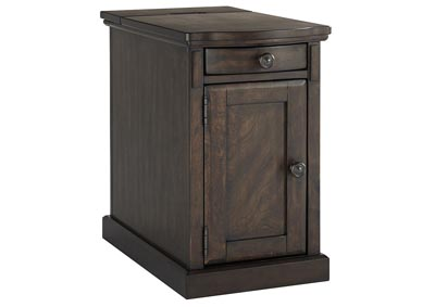 Laflorn Warm Brown Chair Side End Table