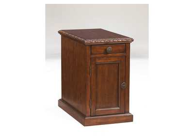 Dark Brown Power Chairside End Table