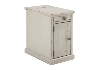 Laflorn White Chair Side End Table