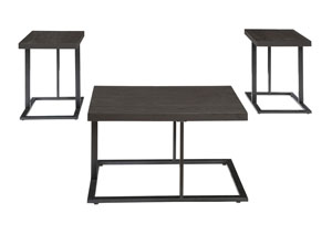 Airdon Gray Occasional Table Set