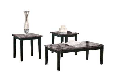 Maysville Occasional Table Set (Cocktail & 2 Ends),48 Hour Quick Ship