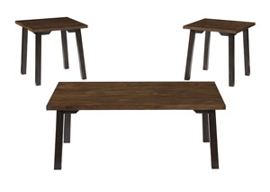 Latoon Two-tone Brown Occasional Table Set