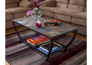 Antigo Rectangular Cocktail Table w/Casters