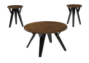 Ingel Two-tone Brown Occasional Table Set