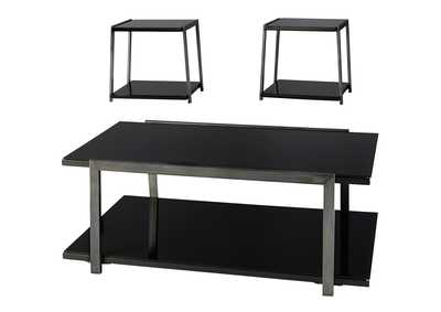 Rollynx Black Occasional Table Set,Signature Design By Ashley