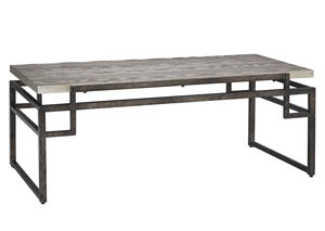 Isman Silver/Black Rectangular Cocktail Table