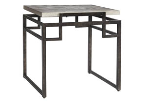 Isman Silver/Black Square End Table,Signature Design by Ashley