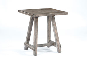 Rustic Chairside End Table