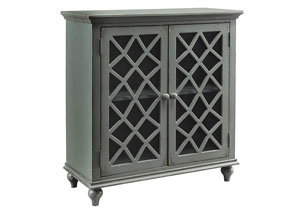 Mirimyn Antique Gray 2 Door Accent Cabinet