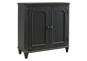 Mirimyn Antique Black 2 Door Accent Cabinet