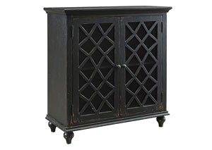 Mirimyn Antique Black 4 Door Accent Cabinet