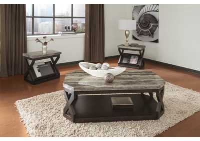 Radilyn Occasional Table Set (Cocktail & 2 Ends)
