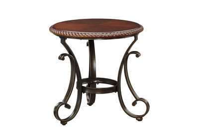 Gambrey Reddish Brown Round End Table,Signature Design by Ashley