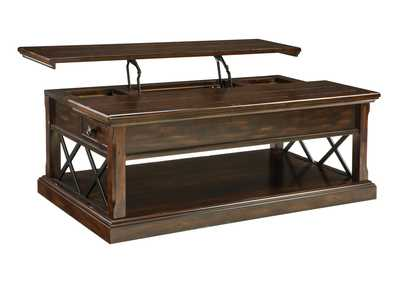 Roddinton Dark Brown Lift Top Cocktail Table