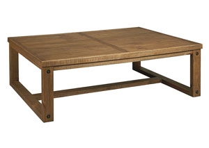 Tamilo Grayish Brown Rectangular Cocktail Table