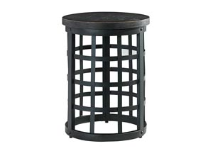 Marimon Black Round End Table
