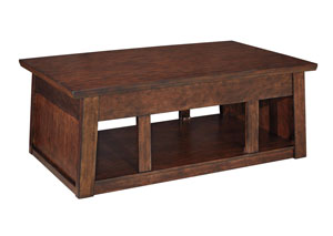 Harpan Reddish Brown Lift Top Cocktail Table