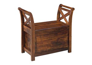 Abbonto Warm Brown Bench,48 Hour Quick Ship