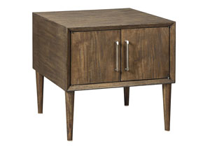 Kisper Dark Brown Square End Table,Signature Design by Ashley