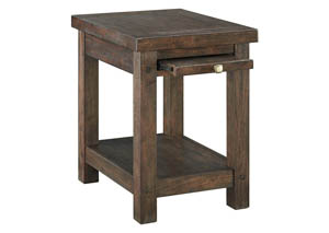 Windville Dark Brown Chair Side End Table