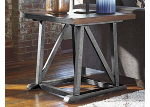 Zenfield Medium Brown Square End Table,Signature Design by Ashley