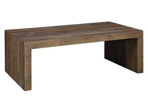 Sommerford Brown Rectangular Cocktail Table,Signature Design by Ashley