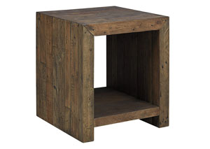 Sommerford Brown Rectangular End Table,Signature Design by Ashley