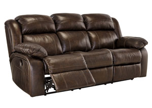 Branton Antique Reclining Power Sofa,Signature Design By Ashley