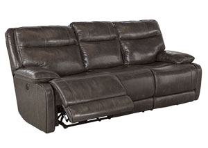Palladum Metal Reclining Power Sofa,Signature Design by Ashley