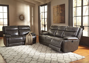 Palladum Metal Reclining Sofa and Loveseat