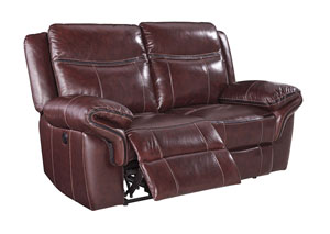 Zephen Mahogany Reclining Power Loveseat,Signature Design by Ashley