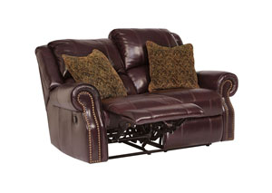 Walworth Black Cherry Reclining Loveseat