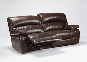 Damacio Dark Brown 2 Seat Reclining Power Sofa