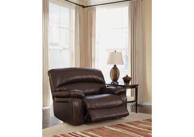 Damacio Dark Brown Zero Wall Power Wide Seat Recliner