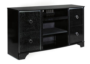 Amrothi Black Large TV Stand,Signature Design By Ashley