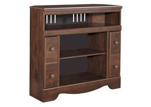 Brittberg Reddish Brown Corner TV Stand w/ Fireplace Option,Signature Design by Ashley
