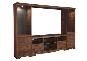 Brittberg Reddish Brown Entertainment Center,Signature Design by Ashley