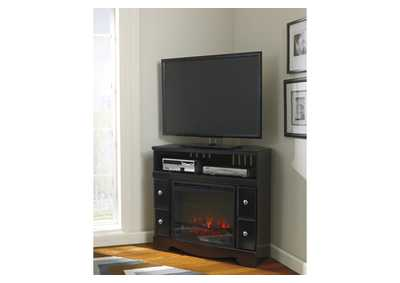Shay Corner TV Stand w/LED Fireplace