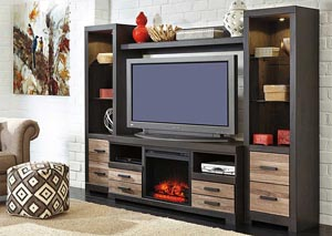 Harlinton Entertainment Center w/ LED Fireplace Insert