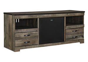 Trinell Brown Large TV Stand w/Large Integrated Audio