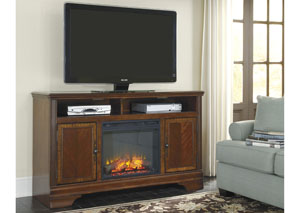 Hamlyn Large TV Stand w/ LED Fireplace Insert