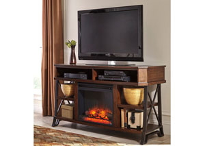 Vinasville Large TV Stand w/LED Fireplace Insert