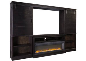 Sharlowe Charcoal Entertainment Center w/Fireplace