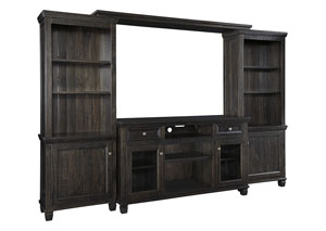 Townser Grayish Brown Entertainment Center